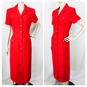 VTG Retro Positive Attitude Red Wiggle Dress